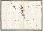 Queen Charlotte Strait Prints - 1786 La Perouse Map of Vancouver and British Columbia Canada Print by Paul Fearn