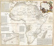 African Kingdoms Prints - 1787 Boulton  Sayer Wall Map of Africa Print by Paul Fearn