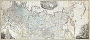 Ply Photos - 1787 Wall Map of the Russian Empire by Paul Fearn