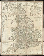 1833 Photos - 1790 Faden Map of the Roads of Great Britain or England by Paul Fearn