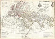 Northern Africa Framed Prints - 1794 Anville Map of the Ancient World  Framed Print by Paul Fearn