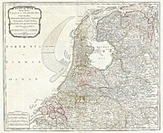 Whittle Prints - 1794 Laurie and Whittle Map of Holland or The Netherlands Print by Paul Fearn
