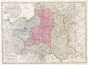 Seizing Prints - 1794 Laurie and Whittle Map of Poland and Lithuania after Second Partition Print by Paul Fearn
