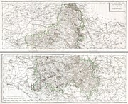 Sparkling Wines Photo Prints - 1797 Tardieu Map of Champagne France Print by Paul Fearn