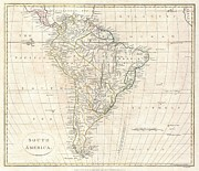Signing-up Posters - 1799 Clement Cruttwell Map of South America  Poster by Paul Fearn