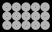 180 Circles Grayscale Print by Asbjorn Lonvig