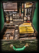 Coppers Metal Prints - 1800s Fingerprint Kit Metal Print by Lee Dos Santos