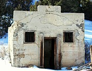 Colorado Mountain Posters Prints - 1800s Jail House The Berwind Jail Print by Barbara Chichester