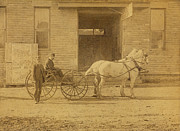Nineteenth Century Digital Art - 1800s Vintage Photo of Horse Drawn Carriage by Charles Beeler