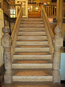 Wooden Stairs Prints - 1800s Vintage Stairs Print by Donna Wilson