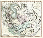Modern Day Ruins Prints - 1801 Cary Map of Persia  Iran Iraq Afghanistan Print by Paul Fearn