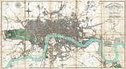 London City Map Framed Prints - 1806 Mogg Pocket or Case Map of London Framed Print by Paul Fearn