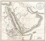 John Heard Posters - 1811 Cary Map of Arabia Egypt and Abyssinia Poster by Paul Fearn