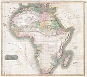 Livingstone Posters - 1813 Thomson Map of Africa Poster by Paul Fearn