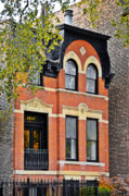 Brick Buildings Framed Prints - 1817 N Orleans St Old Town Chicago Framed Print by Christine Till