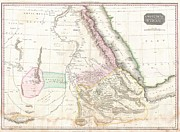 A Map Of The Moon Posters - 1818 Pinkerton Map of Nubia Sudan and Abyssinia Poster by Paul Fearn