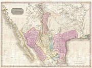 River.etc. Prints - 1818 Pinkerton Map of the American Southwest Print by Paul Fearn