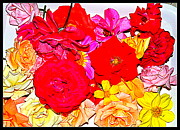 Flowers Flowers And Flowers Print by Anand Swaroop Manchiraju