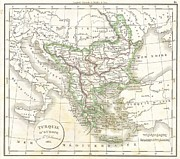 Turquie D Posters - 1832 Delamarche Map of Greece and the Balkans Poster by Paul Fearn