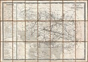 1833 Photos - 1833 Charle Map of the Dept of Morbihan Bretagne France by Paul Fearn