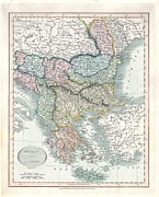 Rule The World Framed Prints - 1836 Cary Map of Greece and the Balkans Framed Print by Paul Fearn