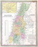 O Jerusalem Posters - 1836 Tanner Map of Palestine  Israel  Holy Land Poster by Paul Fearn