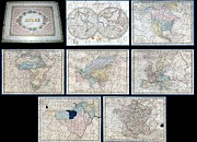 South By Southwest Framed Prints - 1845 Logerot Jigsaw Puzzle Atlas of the World  Framed Print by Paul Fearn