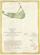 Lead The Life Posters - 1846 US Coast Survey Map of Nantucket  Poster by Paul Fearn