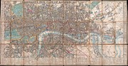 Public Issue Prints - 1849 Cruchley Pocket Map of London Print by Paul Fearn