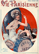 Bands Drawings Prints - 1920s France La Vie Parisienne Magazine Print by The Advertising Archives