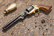 Handgun Posters - 1851 Navy Revolver Replica 36 Caliber Poster by Mike McGlothlen