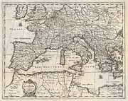 Jansson Prints - 1852 Jansson Map of Europe in Antiquity Print by Paul Fearn
