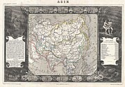 Many Sides Of A Woman Prints - 1852 Levasseur Map of Asia Print by Paul Fearn