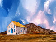Archipelago Painting Posters - 1855 Church at Cape Verde Poster by Dominic Piperata