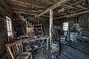 Sweat Prints - 1860s BLACKSMITH SHOP - NEVADA CITY GHOST TOWN - MONTANA Print by Daniel Hagerman