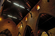 Archways Posters - 1865 - St. Judes Church  - Interior 2 Poster by Kaye Menner