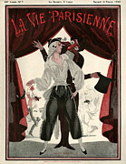 Theatre Drawings - 1920s France La Vie Parisienne Magazine by The Advertising Archives