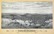 1878 Seattle Washington Map Print by Daniel Hagerman