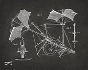 1879 Quinby Aerial Ship Patent Minimal - Gray Print by Nikki Marie Smith