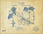 1879 Quinby Aerial Ship Patent - Vintage Print by Nikki Marie Smith
