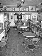 Interiors Photos - 1880 Drug Store Black and White by Ken Smith