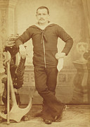 Photogrpah Posters - 1880s Italian Sailor Poster by Paul Ashby Antique Image