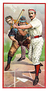 Mit Framed Prints - 1895 In The Batters Box Framed Print by Daniel Hagerman
