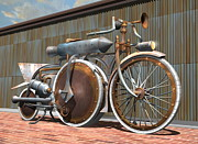 Rivets Art - 1895 Schwartze Quad Steambike by Stuart Swartz