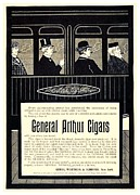 Stogie Framed Prints - 1898 - General Arthur Cigar Advertisement Framed Print by John Madison