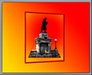 Burning Statue Prints - 1898 Firemen Memorial Print by Thomas Woolworth
