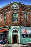 Historic Buildings Art - 1898 Hotel Connor - Jerome Arizona by Saija  Lehtonen