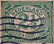 Nederland Prints - 1899 Netherlands Stamp Print by Bill Owen