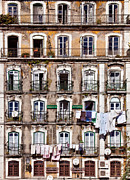 Old Windows Posters - 18th Century building in Lisbon Poster by Lusoimages