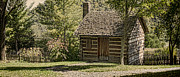 Log Houses Posters - 18th Century Poster by Heather Applegate